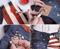 Short com bandeira dos EUA